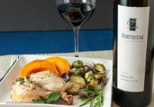 Northstar Merlot paired with roast chicken