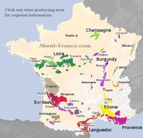 France wine map