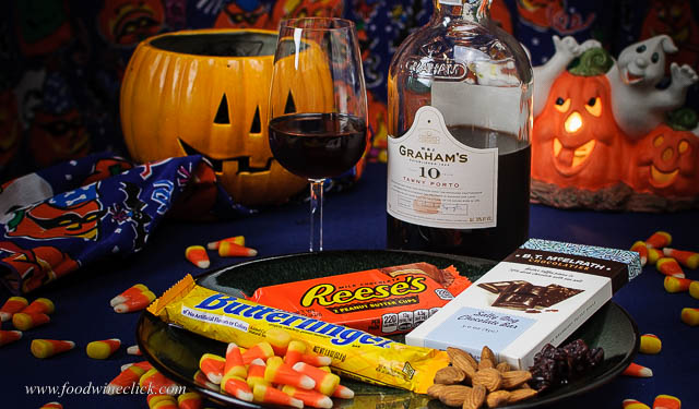 Graham's 10 Year Tawny Port paired with Halloween Candy