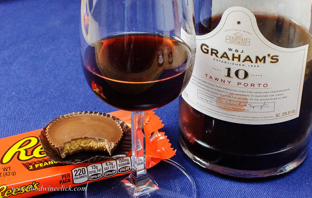 Graham's 10 Year Tawny Port paired with Reese's Peanut Butter Cups