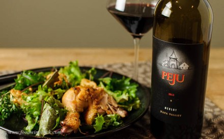 Peju Merlot paired with Zuni Cafe Chicken