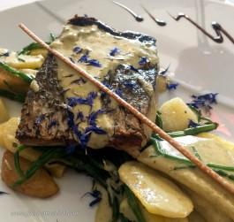 This beautiful fish dish was Julie's plat