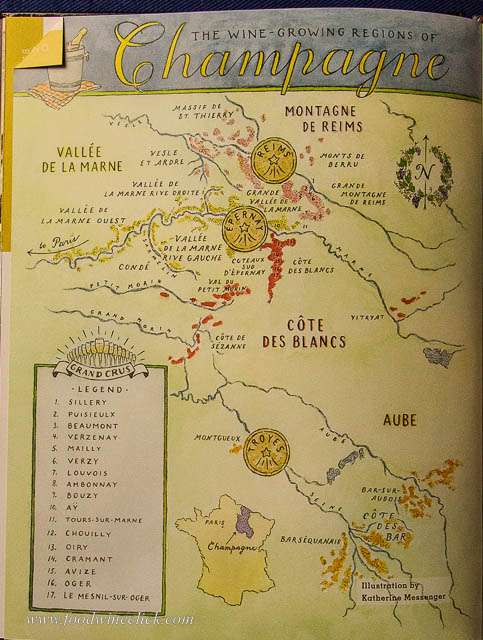 map of Champagne regions