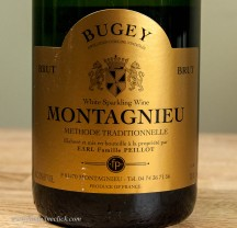 Bugey is a tiny region between the Jura and Savoie. Fun Sparkling wines!