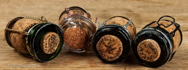 saber'd wine corks
