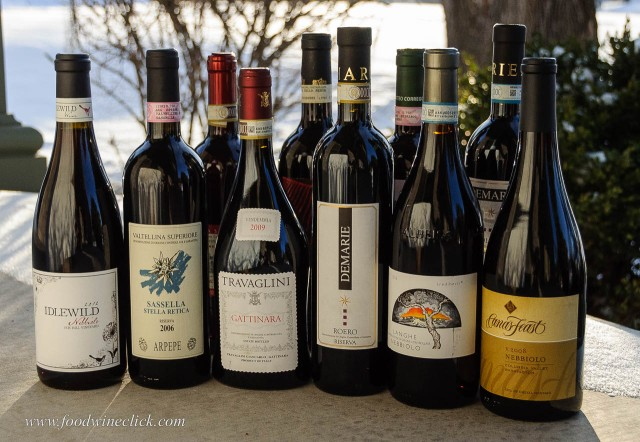 A group of alternative Nebbiolo wines