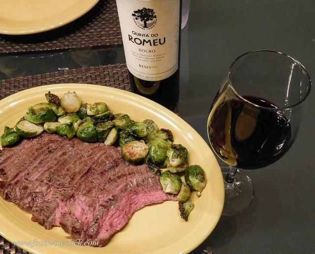 Quinta do Romeu Douro Red wine with flank steak