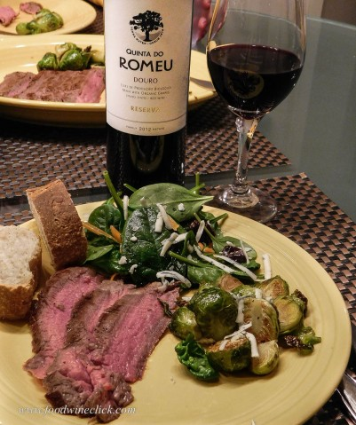 Keep it simple at the condo: flank steak, bag salad, roasted brussels sprouts.