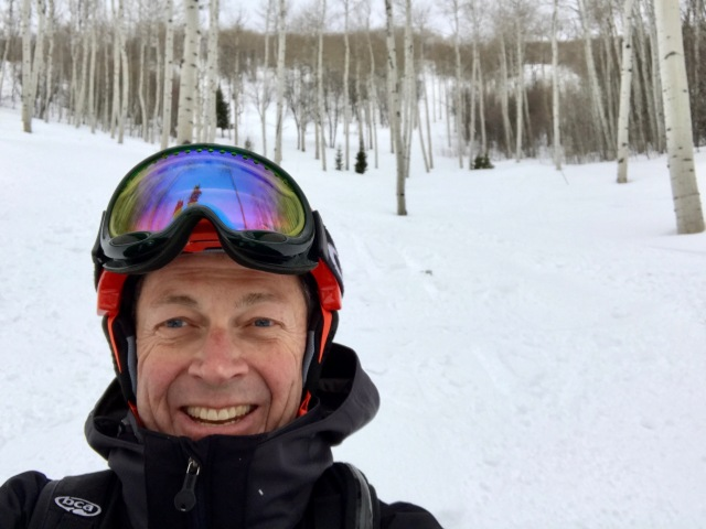 Jeff Burrows snowboarding at Park CIty Utah