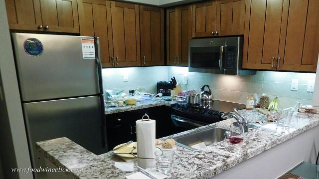 Ski condo kitchen - all the basics, but the ultimate BYO
