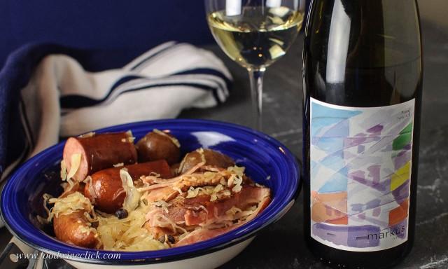 Markus Wine Company Nimmow with choucroute garni