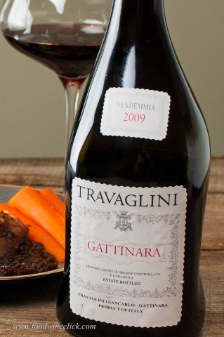 The Travaglini Gattinara sports a cool, asymmetric bottle