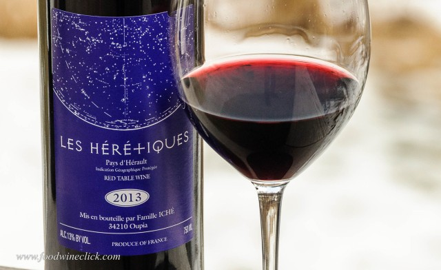 Les Heretiques pays d'herault red wine