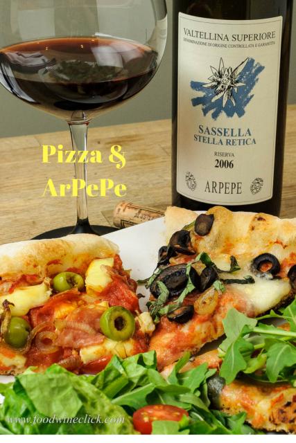 Pizza and ArPePe Valtellina Superiore Riserva Sassella