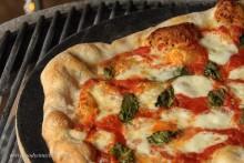 Classic Margherita: tomato sauce, mozzarella and fresh basil