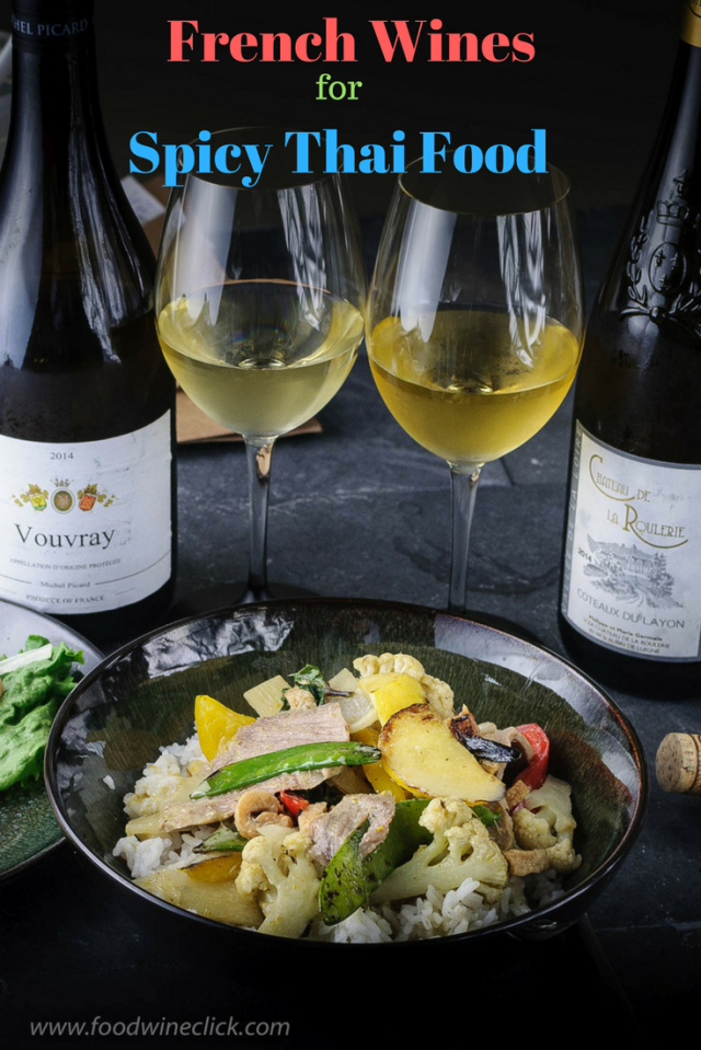 Lightly sweet Loire Valley wines pair beautifully with spicy Thai food