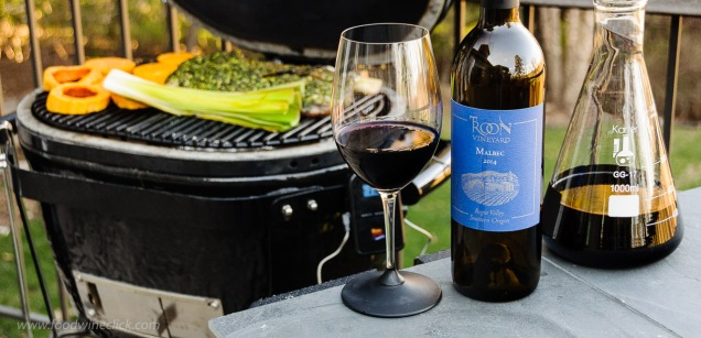 Troon Vineyard Malbec at the grill