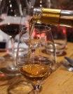 Pouring a Sauternes wine