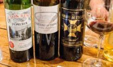 Two Pomerols and a Pessac-Leognan as wines for dinner