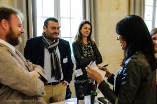 At the village level tastings, there were opportunities to chat with the Chateau representatives