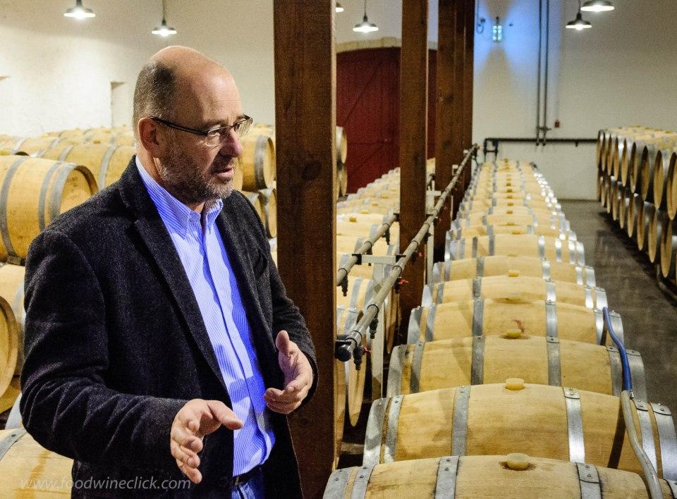 Pierre Montegut inside the Chateau Suduiraut winery