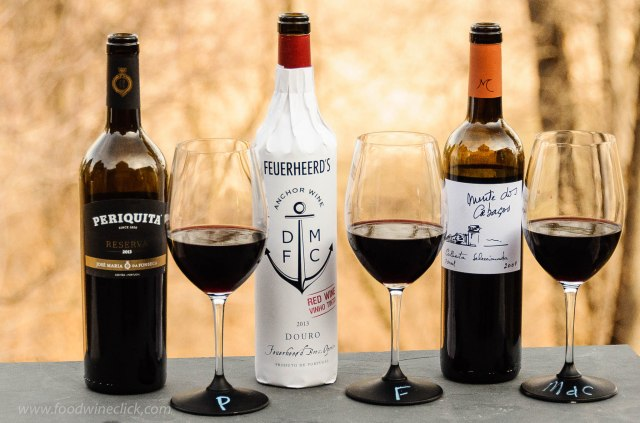 Three dry red wines from Portugal