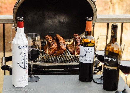 Portugese red wines and barbecue pork ribs