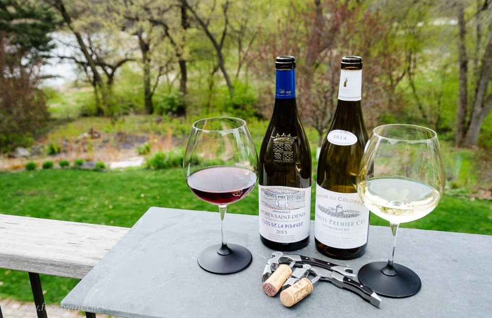 Burgundy wines enjoyed out on the porch