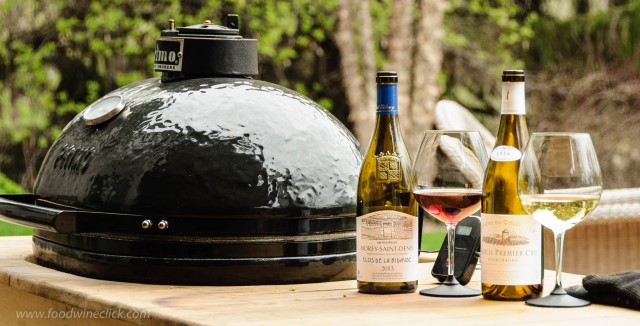 Burgundy wines paired with rabbit roasted on the Primo ceramic grill