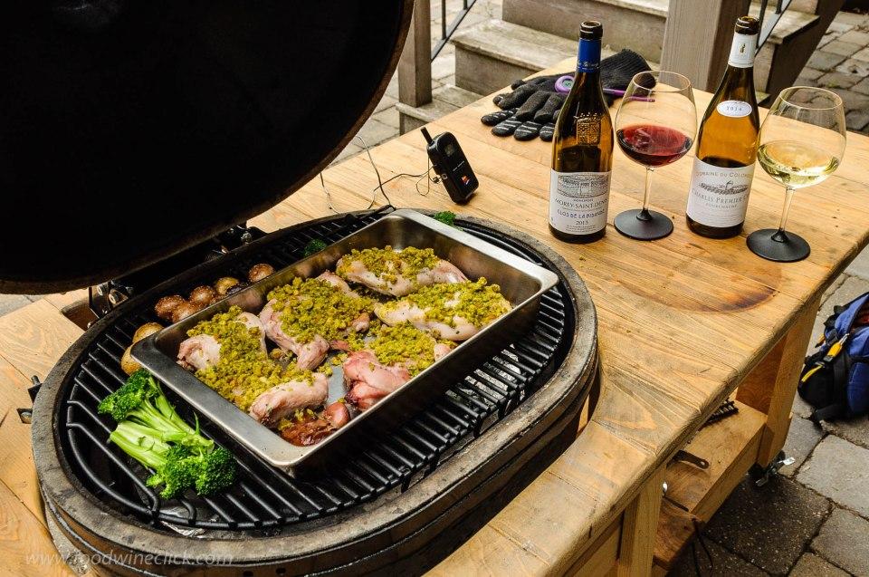 Smoky roast rabbit on the primo grill