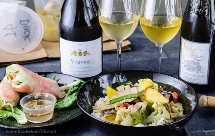 Loire Valley wines paired with spicy Thai green curry