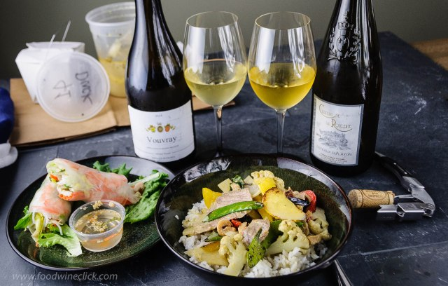 Testing sweet Loire Valley wines with spicy Thai green curry
