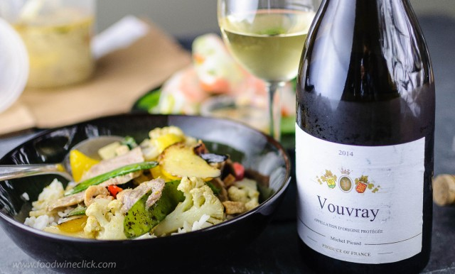 Vouvray (demi-sec) is a great choice with spicy Thai food