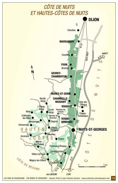 Côte de Nuits map