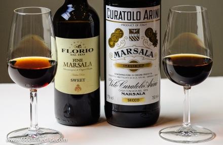 Sweet and dry marsala wine