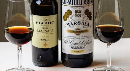 Sweet and dry marsala wine