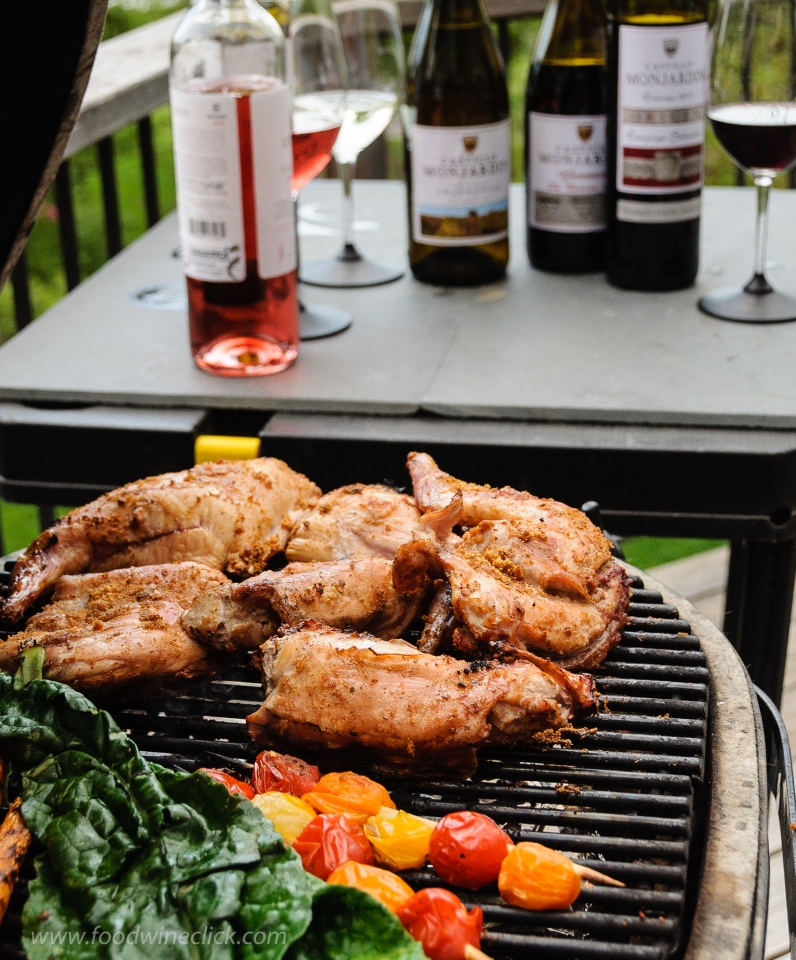 Grilled rabbit and wines of Navarra Spain