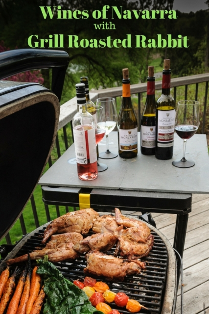 Wines of Navarra paired with Grill Roasted Rabbit. Visit www.foodwineclick.com for details