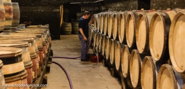Cellar work at Louis Max in Burgundy