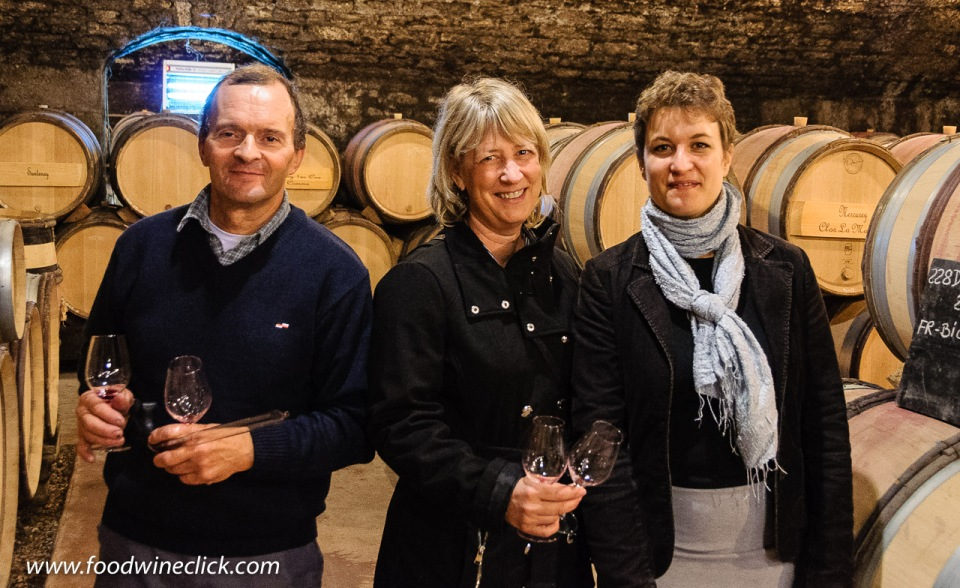 Eric de la Broise and Sophie Doche, winemaking team at Louis Max in Burgundy