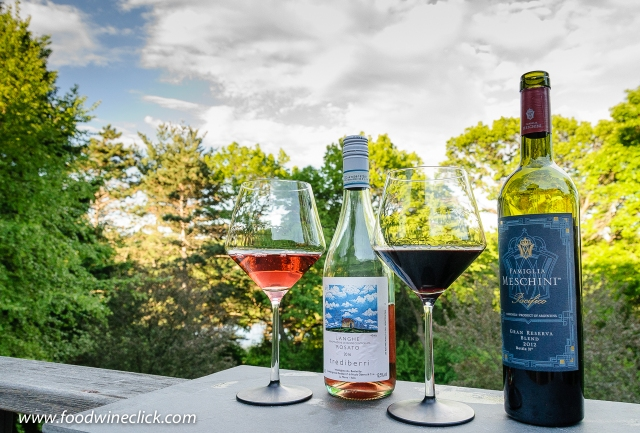 Trediberri rosato and Famiglia Meschini Pacifico red blend wines