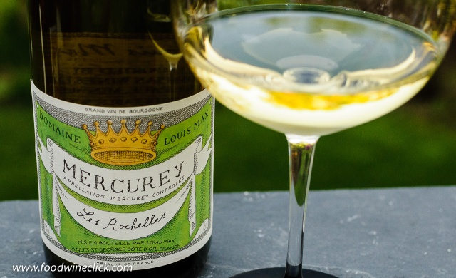 "Domaine Louis Max Mercurey ""Les Rochelles"" 2015, a white Burgundy made from Chardonnay"