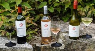 Natura Carmenere, Rosé, and Chardonnay