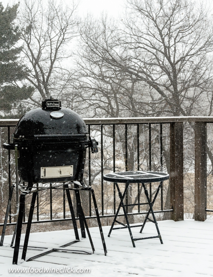 Primo Ceramic Grill in the Minnesota winter