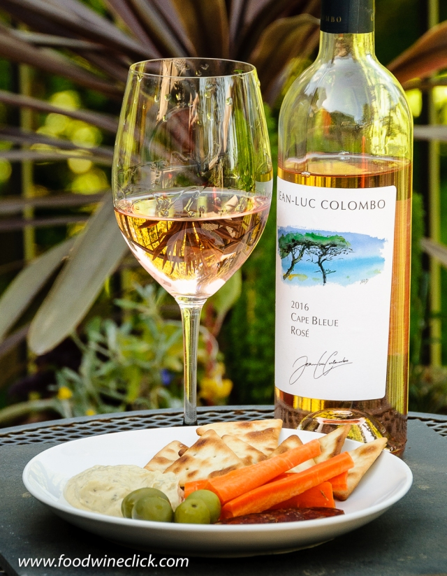 The Jean-Luc Colombo rosé is made from a combination of Syrah and Mourvédre grapes.
