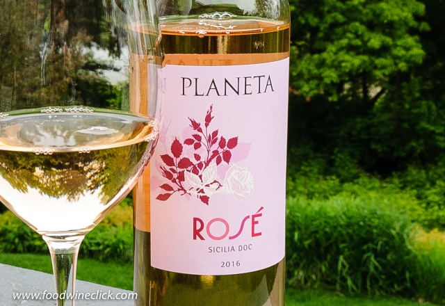 Planeta rosé is a blend of Nero d'Avola and Syrah grapes