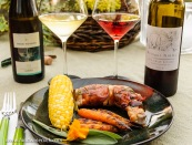 Grilled chicken saltimbocca with Kerner and Schiava Alto Adige wines
