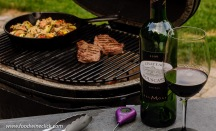 Chateau Bouscassé and dinner on the Primo Ceramic Grill