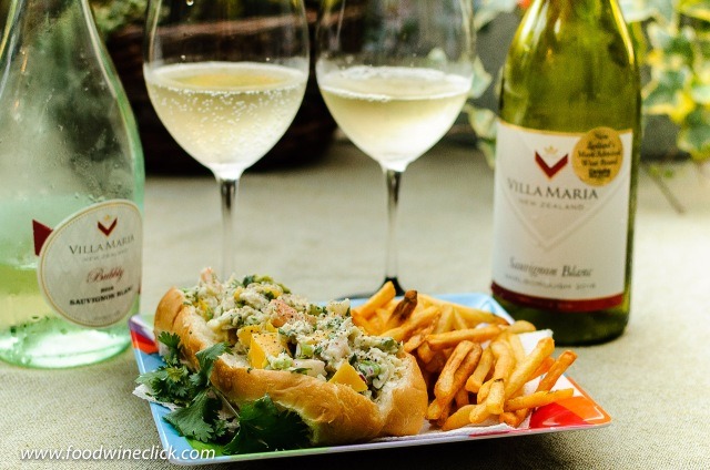 Easy no-cook seafood rolls pair with Villa Maria Sauvignon Blancs at www.foodwineclick.com