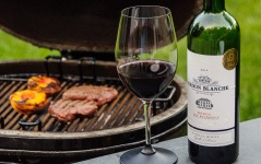 Chateau Maison Blanche at the grill